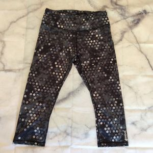 Polka dot Reebok crop workout legging